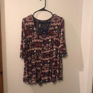 Lucky Brand Tops - Lucky brand 2X blouse